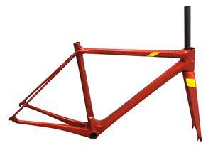 Red Glossy Chinese Oem Carbon Bike Frame Road Bike Frame Super Light Just 850g 2021 NEW
