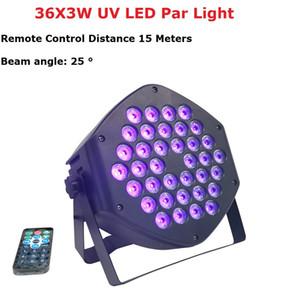 LED شقة الاسمية 36x3 واط البنفسجي اللون الإضاءة الأشعة فوق البنفسجية مع dmx512 ل ديسكو دي جي آلة العارض حزب عيد الميلاد الديكور الأرجواني برو دي جي 201030