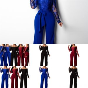 ACRL Mesh Moda Twopants Uzun kadın Tulum Siyah kadın ACNT Pist Pie Baskılı Kollu İki Ceketler Ceket Uzun Pantsplus Boyutu
