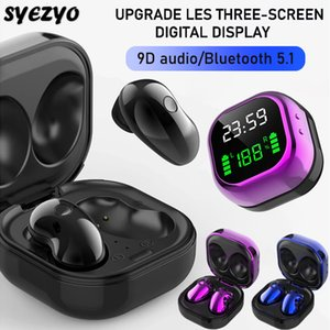 S6 Plus Bluetooth Auricolare Auricolare Auricolare Auricolare impermeabile Auricolare Sport Auricolari per iPhone Huawei OPPO Xiaomi TWS Cuffie wireless