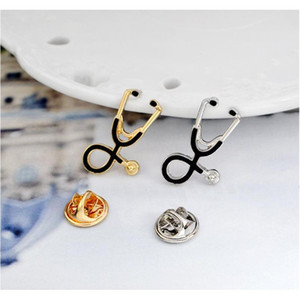 Fashion 2 Color Stethoscope Brooch Pins Nurse Jewelry Silver & Gold Medical Jewelry Doctor Nurse Gift Medical S sqcJiy queen66