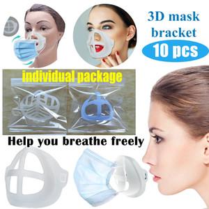 3D Maschera Staffa protezione in silicone Rossetto basamento della maschera di protezione interno Migliorare la respirazione uniformemente fredda Maschera Holder riutilizzabile Accessori