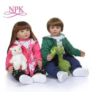 NPK 60 см Высокое качество Reborn Modyler Boy кукла в капюшоне платье Bebe Doll Reborn 6-9 месяцев Реальная кукла ребенка размером 1011