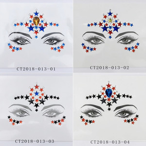 Diamond Sticker Glitter Crystal Tattoo Stickers For Women Face Forehead Paster Wedding Decorations 23 styles RRA3720