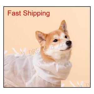 Ropa protectora para perros de mascota ventiladora para caminar al aire libre Tienda de bacterias Perro Perro Ropa Polvo Aparato Pet Qyloia Packing2010