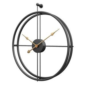 Большие старинные металлические настенные часы современный дизайн для домашнего офиса декор висит часов живущая комната классическая короткая европейская настенные часы