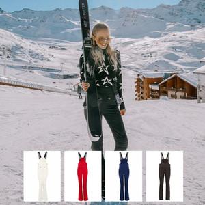 Showtime Dmt High Waist Jumpsuit Wide Ski Suit Integrated Bib Women'S Ski Suit Tight Lightweight Clothes Snowboard