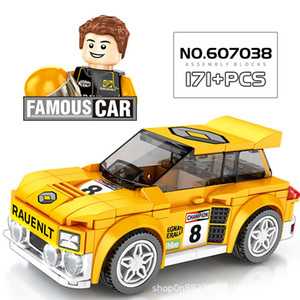 City Vehicle Racing Competitive Sports Racing Car Bricks Speed Champion Technology Model Building Blocks Children Boys Christmas Gift