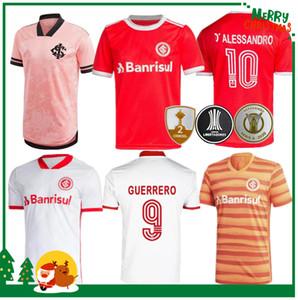 2020 2021 브라질 인터내셔널 홈 축구 유니폼 축구 셔츠 20 21 게레로 미아오 실바 D 알레산드로 성인 남자 + 아이 키트 축구 셔츠