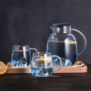1.8L New Snow Mountain verre borosilicate Teapot Set chaleur résistant à l'eau Pot inoxydable Filtre en acier Couverture thé vin Coffee Pot