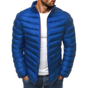 Zogaa 2019 Nouveau hiver Hommes Parkas Guys Coton Solide Manches Longues Parkas Homme Casual Collier Collier Manteaux Manteaux Hommes Vêtements