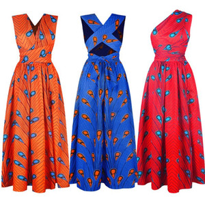 Plus Size Bandage African Dresses For Women Maxi Dress South Africa Clothes Dashiki Maxikleid Vestidos Ropa Mujer Vetement Femme