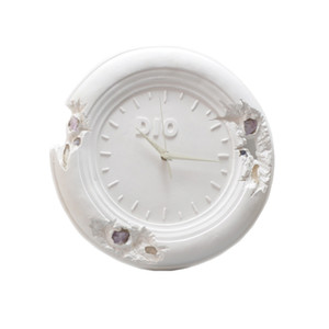 Home Furnishings Trendy 28cm Daniel Arsham Eroded Clock Future Relic Eroded Art Drops Collection Sculpture Plaster