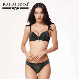 wholesale Sexy Twinkle Push Up Bowknot Women Bra and Panty Sets Brassiere Underwear Female Lingerie Set Seamless T Back Thongs