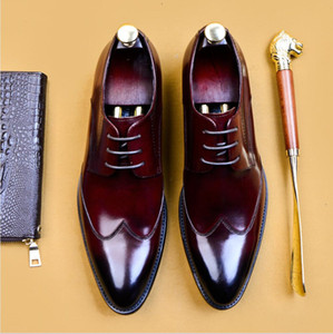 SIPRIKS 2020 Italian Handmade 36 46 Oxford Dress Shoes Mens Genuine Leather Suit Shoes Footwear Wedding Formal Tuxedo