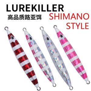 일본 품질 Lurekiller Glow 지그재그 루어 리드 물고기 210 / 250 / 300 / 350g Slow Jig Lure Deep Shew Fishing Lure 201030