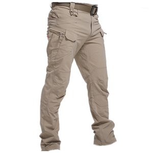City Tactical Pants Men Special Combat Trousers Multi-pocket Waterproof Wear-resistant Casual Training Overalls 20201
