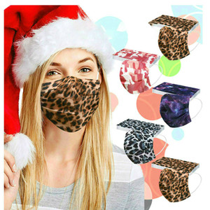 Brand new disposable outdoor mask adult printed wind and cold mask starry sky mesh belt three-layer meltblown mask