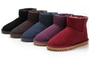 Hot vender clássicos curto Mini Ausg botas 5854 mulheres neve manter aquecido moda de inicialização A pele clara as sapatas das mulheres botas de inverno 15 cor escolher