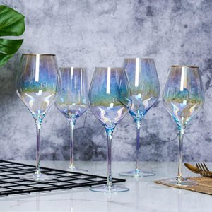 Originality Crystal Rainbow Sputtering Ion Plating Wine Glass Goblet Champagne Flute Champagne Glass