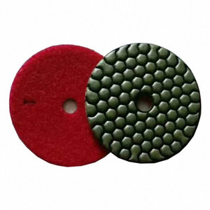 ST13 Сухие Полировка колодки 3 дюйма 4 дюйма Алмазный полировальный диск 3 Step Сухие колодки для гранита мрамора 10шт RzR8 #