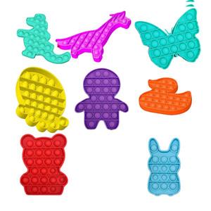 Chaud 14 styles poussez Bubble Fidget Toys Atêquez les besoins spéciaux Stress Stress Stress Stress Stress Relever aide à soulager le stress et à augmenter la mise au point Soft Squeeze Kids Toy jouet