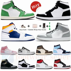 Nike Tie Dye air Jordan 1s alta Travis Scotts 1 scarpe da basket Obsidian UNC a Chicago Twist Fearless Turbo verdi Mens Trainers sport delle donne delle scarpe da tennis