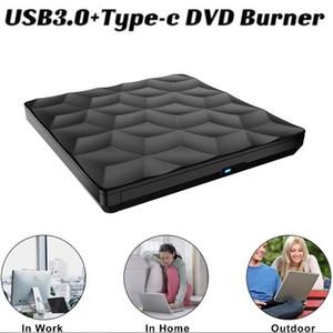 DVD Drive USB 3.0+TYPE-C CD DVD Burner CD Player for Laptop Mac Desktop Mac OS Windows10 8 7