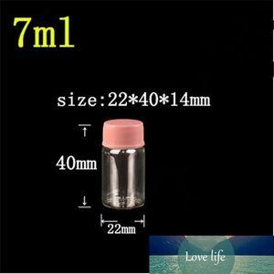 22*40*14mm 7ml Glass Jars With Plastic Cap Transparent Empty Glass Bottles Jars Containers 100pcs lot