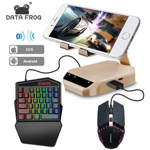 Datenfrosch Bluetooth-Tastatur-Maus-Konverter-Stand-PC-Adapter Gaming PUBG Mobile Gamepad Controller Telefonhalter für Android / iOS Q0104