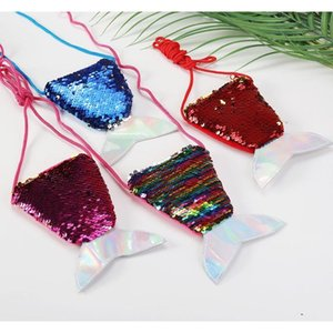 Women Mermaid Tail Sequins Coin Purse Girls Crossbody Bags Card Holder Small Portable Glittler Wallet Purse Bag Pouch bbyrbm lg2010