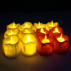 LED Flameless Tea Light Pillar Tealight Battery Operate Candle Lamp Wedding Birthday Party Christmas Decoration VT1722