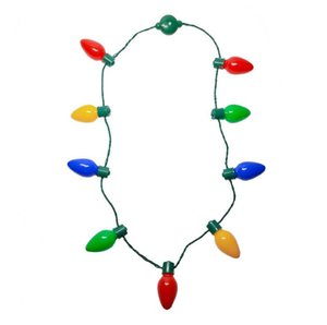 Christmas Special LED 9 Light light-Emitting Necklace Festival Atmosphere Rendering Props Flash Series Light Bulb KTV Party Props OWC2954