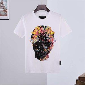 21SS Moda Verão Mens Mulheres Tshirt 2021 Diamante De Algodão De Manga Curta Impresso Phillip Plain Homens Camisetas