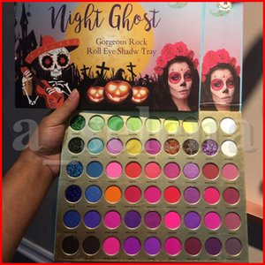 COCOURBAN 56 COLORES Ojos Maquillaje Eyeshadow Paleta Noche Ghost Eye Shadow Mate Shimmer Glitter Gorgeous Rock Roll Ojo Sombra Bandeja