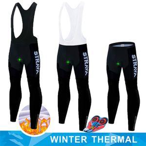Calças de ciclismo Gibson acolchoado Coolmax Gel de Inverno térmicas calças compridas Ciclismo Bib velo MTB bicicleta de competência da bicicleta Calções