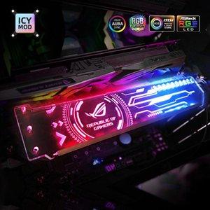 Titolare RGB VGA personalizzabile A-RGB Horizental GPU della scheda video Staffa di sostegno 5V 3Pin Personalizza AURA 12V Water Cooler personalizzato MOD