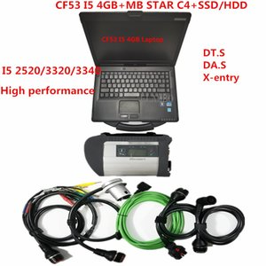 2020 Hot MB STAR SD Connect C4 with CF53laptop (4g ram) with 360gb ssd 320gb hdd soft-ware v2020.09 for Be-nz Diagnostic Tools