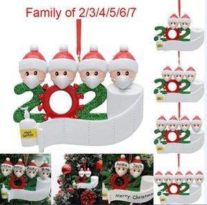 2020 Adornos de Navidad DIY Saludos Ornamentos de Navidad Partido Decoraciones Creativas Árbol de Navidad Accesorios Colgantes 50pcs Envío gratis