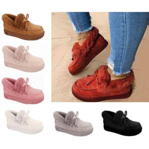 Случайные женщины меховые короткими ботинками лук зима короткие дамы девушки женские пинетки серые черные красные голубые короткие сапоги 569