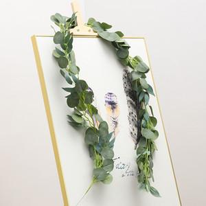 Artificial Eucalipto Garland com Salgueiro Folhas 6.5 pés Falso Verdura Videira Hera Casamento Casa Decoração JK2101PH