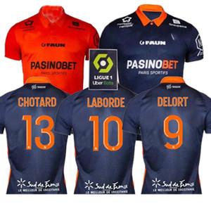 مونبلييه HSC لكرة القدم الفانيلة Laborde Delort Mailleot De Savanier Mavididi Mollet Congre Men Football Shirts Oechs