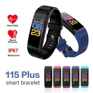 ID 115 Plus Smart Bracelet For Fitness Tracker Blood Pressure Pedometer Sport Watch Heart Rate Monitor Smart Wristband