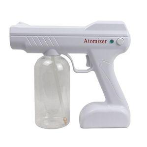 Wireless Blue Light Nano Steam Atomizer Gun Disinfection Fog 800ml Hair Spray Machine Household Cleaning Tools SEA SHIPPING CCA12596 15pcs