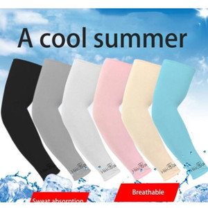 ice silk 1pair outdoor cooling arm sleeves sun protection cuff arm warmers for cycling basketball football running sports sleeve