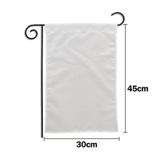 Single Double layer sublimation Blank Garden Flag heat transfer printing Garden Banner blank banners size 30*45cm