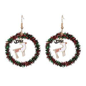 Ladies Christmas decoration Earrings Santa Claus Snowman Christmas tree elk Earrings ornaments Christmas Earrings party gifts T500453