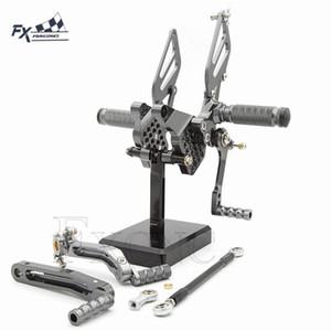 CNC de aluminio ajustable trasero de la motocicleta Conjunto reposapiés para 749 999 clavijas del pie Resto Estriberas Pedales Rearset