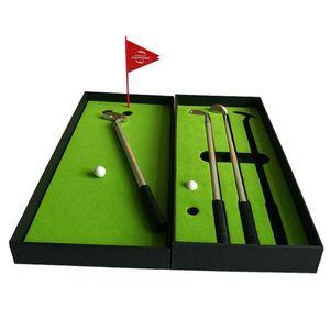 Originality Mini Course Desktop Golf Club Ball Putting Green Flag Ballpoint Pen Set for Office gift