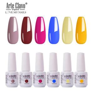 Arte Clavo 6pcs Set Autumn Winter UV Gel Lacquer Resin Soak Off Nail Gel Polish Kit Hybrid Nails Lak 8ml Nail Art Manicure